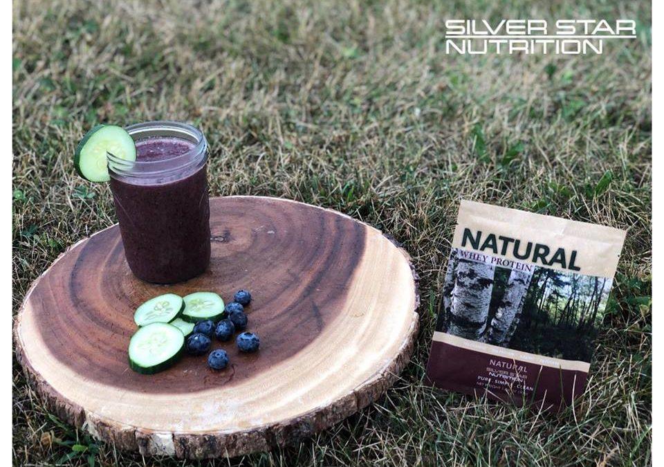Blueberry Cucumber Protein Smoothie